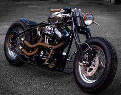 Sportster Motorcycle, Harley Bobber, Harley Bikes, Bobber Chopper, Harley Davidson Sportster, Custom Motorcycles, Custom Bikes, Custom Cycles, Mens Gear