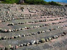 The labyrinth at the island of Blå Jungfrun, Sweden