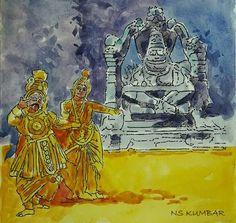 Ugra Narasimha Temple Hampi, Karnataka Culture Painting