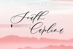 South Carolina #font #script #calligraphy Calligraphy Fonts, Script Fonts, Modern Calligraphy, Lettering, Font Logo, Typography, Wedding Fonts, Wedding Invitations, Letter Stationery