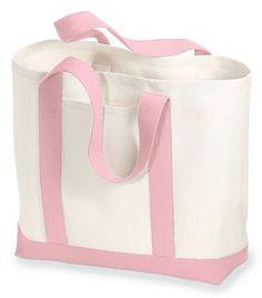 Port & Company - 2-Tone Shopping Tote, Light Pink Port & Company http://www.amazon.com/dp/B000YXN27G/ref=cm_sw_r_pi_dp_26Lyvb0EFWT3R