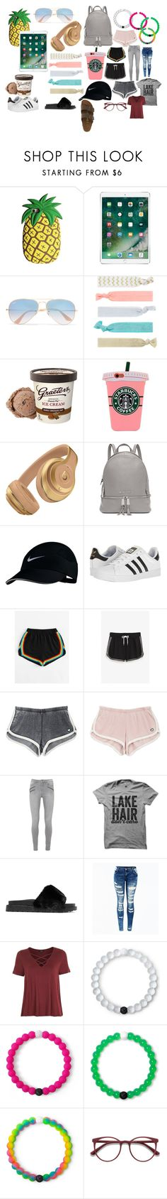 """""""thing laying around in my room"""" by bradyyy on Polyvore featuring Ray-Ban, Accessorize, Michael Kors, NIKE, adidas, Monki, Sam Edelman, Topshop, Lokai and EyeBuyDirect.com"""