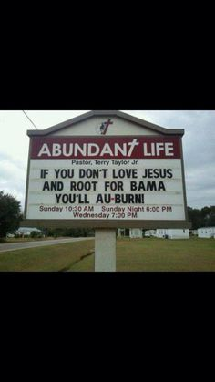 Best church sign ever.