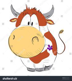 Funny Drawings, Cartoon Drawings, Animal Drawings, Cow Drawing, Flower Art Drawing, Funny Christmas Shirts, Funny Christmas Cards, Character Drawing, Character Design