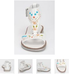 #Children's #Cherie #Sandals - White #Leather & #Floral #Kids Shoes. http://www.rinastore.com/1700-cherei-sandals/dp/6899  #MadeInItaly Available at Rina's #Italian #Shoe #Boutique. On Sale Now !