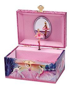 Schylling Iridescent Ballerina Jewelry Box - Dance Recital Gift Ideas For Kids Kids Jewelry Box, Musical Jewelry Box, Fairy Jewelry, Girls Jewelry, Jewelry Ideas, Women Jewelry, Ballerina Jewelry Box, Dance Recital, Pink Kids