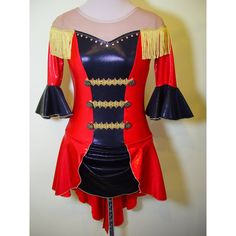 Ice Figure Skating Dress size Adult Small Circus Ringleader Costume... (275 AUD) ❤ liked on Polyvore featuring dresses