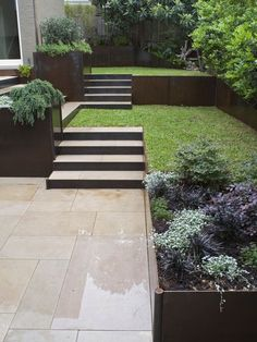 This means you can create the garden staircase design on slopes as well as on flat terrain. Let& show you our outdoor garden stairs designs. Back Gardens, Small Gardens, Outdoor Gardens, Gardens On A Slope, Indoor Gardening, Gardening Tips, Garden Stairs, Terrace Garden, Hill Garden