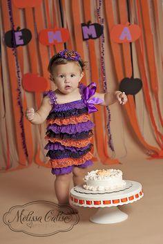 Melissa Calise Photography (1st Birthday Cake Smash Pumpkin Halloween Ideas)