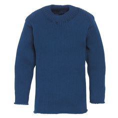 Ribbestrikket genser, ull: Litt tykkere genser i ribbestrikk. 100% merinoull. fra Nøstebarn.