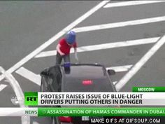 This protester. | 35 GIFs Of Individuals Who Really Did Nail It