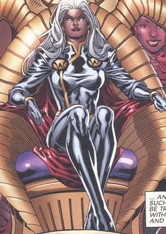 Bow down to your. Storm (Ororo Munroe) Marvel More… Storm Comic, Storm Marvel, Storm Xmen, Comic Book Characters, Marvel Characters, Comic Character, Comic Books, Marvel Now, Marvel Comics Art