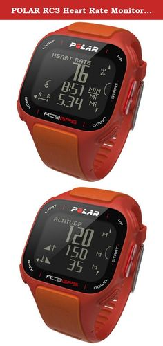 POLAR RC3 Heart Rate Monitor, Red/Orange Various Patterns. RC3 GPS New from Polar, their first integrated GPS Watch! This watch is ideal for both runners and cyclists! In addition to providing distance/speed and providing time, date, etc. The watch includes Polar?s Training Benefit Feature. This feature bases performance on the Polar Sport Zones and will provide you with instant feedback that summarizes your training. The feature reads how much time you spend working out and how many...