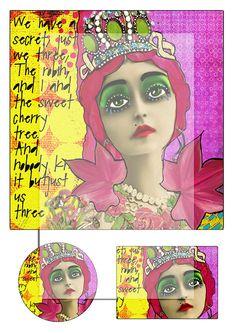 mixed media collage sheet No 2..... A4 DiGiTaL by lilymelba1