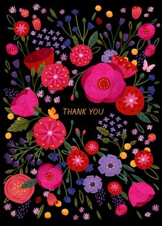 Thank You Greetings, Birthday Greetings, Thank You Cards, Pink Happy Birthday, Thank You Images, Thank You Flowers, Illustrations, Decir No, Thankful