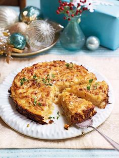 Michel Roux Jr's Lyonnais potato cake is made with slowly cooked onions and potatoes baked with crème fraîche and a sprinkling of nutmeg. The side dish recipe can be made ahead of serving.