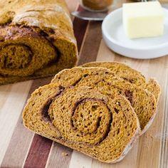 Pumpkin Cinnamon Swirl Bread - the perfect bread for a cool fall morning!