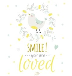 Cute summer card with character vector smile you are loved by lana_vasiukova on VectorStock® Color Quotes, Happy Birthday Greetings, Typography Inspiration, Quote Posters, Vector Art, Illustration, Holiday, Vectors, Cute