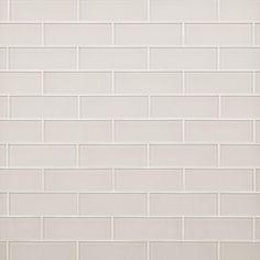 Ivory Glass Tile - 3 x 9 - 100465673 Glass Subway Tile Backsplash, Decorative Tile Backsplash, Ceramic Wall Tiles, Tile Mosaics, Subway Tile Kitchen, Bathroom Floor Tiles, Tile Floor, Kitchen Backsplash, Slate Bathroom