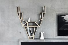 sculptural bookshelf looks cool, not sure is that stable
