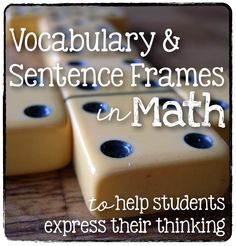 Who's Who and Who's New: Vocabulary and Sentence Frames in Math