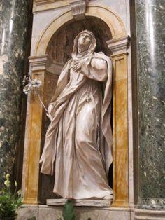 St Catherine of Siena - Ercole Ferrata Chigi Chapel, Cathedral of Siena, Santa Maria Assunta, Siena, Italy. Baroque Sculpture, Sculpture Art, St Catherine Of Siena, Religion, Santa Maria, Siena Italy, Cathedral, Saints, Caterina