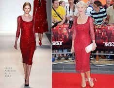 Helen Mirren In Jenny Packham - 'RED 2' London Premiere