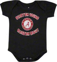 Alabama Crimson Tide Newborn / Infant Black Start Em Young Creeper