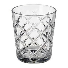 IKEA - FLIMRA, Glass, Glasset har en enkel, lav og rett form, som gjør det perfekt for alle typer kald drikke.