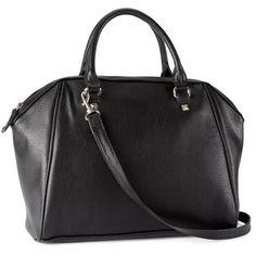 H&M Bag ($20) ❤ liked on Polyvore featuring bags, handbags, h&m, sacs, purses, black, vegan hand bags, hand bags, zipper handbag and h&m purses