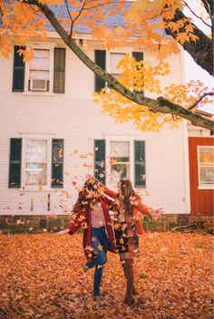 Go outside and play in the leaves with your kids..simple..easy..fun