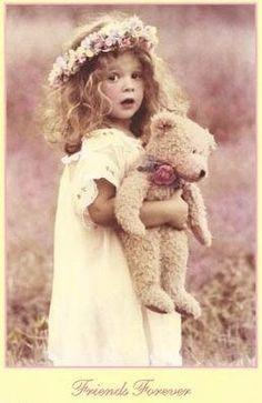 Meisje teddybeer