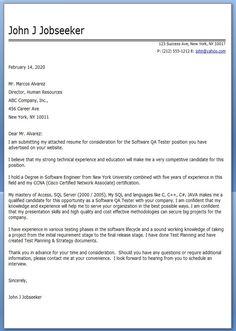 Cover Letter Qa | Resume CV Cover Letter
