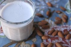 Wondering how to make almond milk? This is the easiest recipe ever - no nut milk bags, no waste, just fast, easy and frugal.