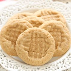 These super soft peanut butter cookies are easy to make, full of peanut butter flavor, and don't require any dough chilling!