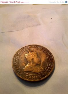 1903 Large Canadian Cent Beautiful coin coin by DrewsCollectibles, $6.98