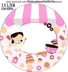 Baking Logo Design, Cake Logo Design, Cute Bakery, School Border, Candy Logo, Boarder Designs, Cake Illustration, Logo Shapes, Classroom Labels
