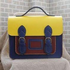 Handmade Genuine Leather Satchel / Messenger Bag / Backpack - Multicolor