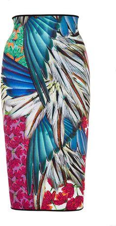 Clover Canyon Carnival Printed Neoprene Reversible Skirt