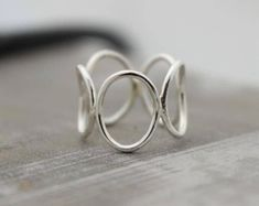 Sterling silver bubble ring - silver ring band - open circle ring - gift for her - jewelry sale - JOYERIA Handmade Sterling Silver, Sterling Silver Bracelets, Silver Earrings, 925 Silver, Silver Cuff, Drop Earrings, Sea Glass Jewelry, Jewelry Rings, Gold Jewellery