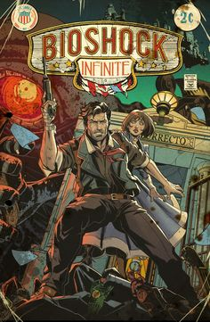 Last but not least, BioShock Infinite vintage comic cover by Emilio Lopez!
