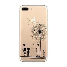 Dandelion Pattern Creative LOGO Environmental TPU Material Phone Case for iPhone 7 7plus 6S 6plus SE 5S 5G