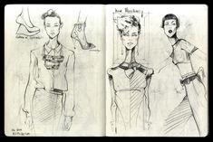 Fashion Sketchbook - fashion drawings; fashion sketches; fashion design journal // Alena Lavdovskaya