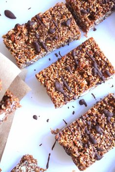 Extra Chewy Chocolate Steel Cut Oat Bars