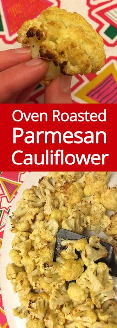Oven Roasted Parmesan Cauliflower Recipe - perfect low-carb gluten-free side dish!