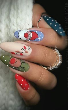 this christmas awesome nails design ideas and nail polish - page 45 of 56 - daily women b . - this christmas awesome nails design ideas and nail polish – page 45 of 56 – daily women blo - Xmas Nail Art, Christmas Gel Nails, Christmas Nail Art Designs, Fall Nail Designs, Cute Nail Designs, Holiday Nails, Acrylic Nail Designs, Christmas Design, Nail Designs For Christmas