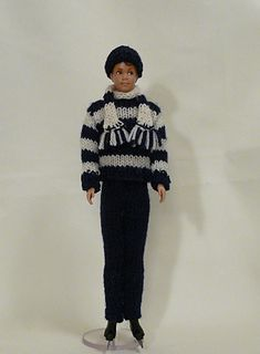 Male Fashion Doll Knitted Skating Outfit - free pattern