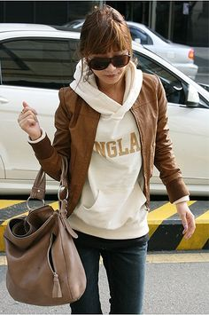 Super Star Style Stand Collar and Long Sleeve Coat For Female (BROWN) | Sammydress.com $11.25