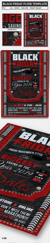 Black Friday Flyer Template PSD Flyer Templates Pinterest - black flyer template