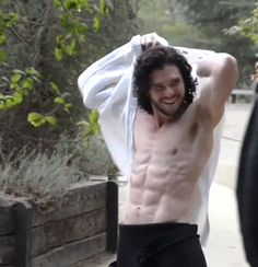 Jon Snow - Kit Harrington shirtless
